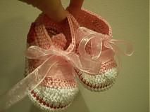 Topánočky - Háčkované tenisky ... sladké srdiečkové ... - 1531291
