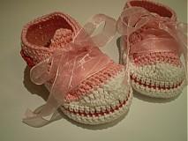 Topánočky - Háčkované tenisky ... sladké srdiečkové ... - 1531292