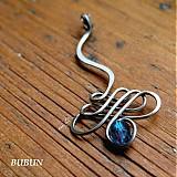 Náhrdelníky - Kráľovský prívesok modrý - 1535225