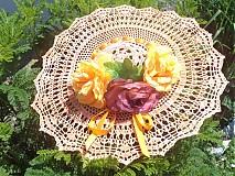 Dekorácie - háčkovaný klobúk    IHNEĎ K ODBERU !  - 1547258
