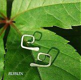 Náušnice - Hranatá spirálka - bodovky - 1549250
