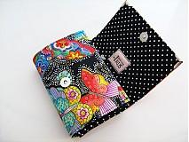 Peňaženky - Na křídlech motýlů -menší prostorná,na karty a 2 měny - 1557002