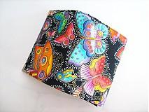 Peňaženky - Na křídlech motýlů -menší prostorná,na karty a 2 měny - 1557004