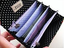 Peňaženky - Na křídlech motýlů -menší prostorná,na karty a 2 měny - 1557005