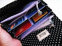 Peňaženky - Na křídlech motýlů -menší prostorná,na karty a 2 měny - 1557006