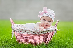 Detské čiapky - čiapočka s mašlou - 1568629