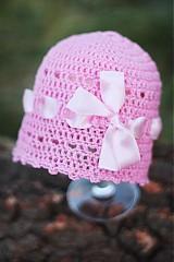 Detské čiapky - čiapočka s mašlou - 1568646