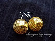Náušnice - Disko v zlatom - 157024