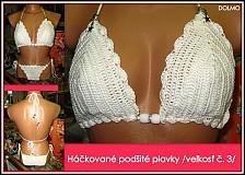 Bielizeň/Plavky - Háčkované plavky /podšité/ - 1571052