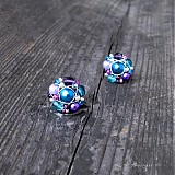 Náušnice - Náušničky Turquoise violets II... - 1580958