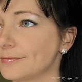 Náušnice - Náušničky Turquoise violets II... - 1580959