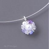 Náhrdelníky - Náhrdelník Lilac sugar... - 1580971