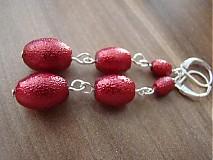 Náušnice - červené krásky - 1586778