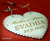 Tabuľky - Svadobné srdce ♥ - 1591003
