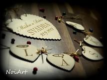 Tabuľky - Svadobné srdce ♥ - 1591004