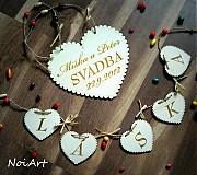 Tabuľky - Svadobné srdce ♥ - 1591005