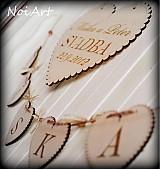 Tabuľky - Svadobné srdce ♥ - 1591006