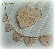 Tabuľky - Svadobné srdce ♥ - 1591007