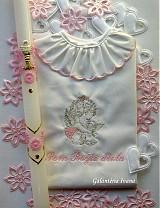 Detské oblečenie - Krstová košieľka K34 pre dievčatko s vyšitím mena a dátumu - 1592388
