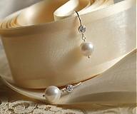 - Náušnice so zirkónom a perlami  - 1594605