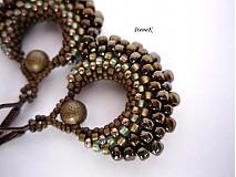 Náušnice - Taštička bronzovo-hnedá - 1594867