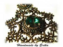 - Emerald Edea so striebornými komponentami - pre Yadu - 15958