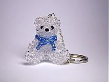 Kľúčenky - Macko s modrou mašľou - 1606772