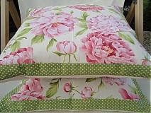 Úžitkový textil - Vankuše Pivonie - 1608320
