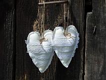 Dekorácie - Srdcia na bielo...s levandulou - 1620454