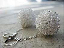 Náušnice - Snehové ježurky:-))) - 1621978