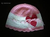 Detské čiapky - Čiapka ... sladká srdiečková ... - 1622042