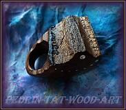 """Prstene - DREVENÝ PRSTEN...... """" jilmový kameň """" - 1623325"""