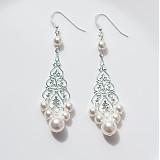 - svadobné náušnice s perlami Swarovski  - 1633541