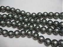 Korálky - Metalizované 10mm-10ks - 1646851