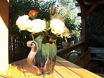 váza modro zelená