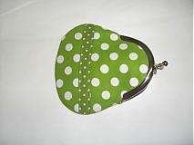 Peňaženky - Zelená bodka-mini-peňaženka - 1648326