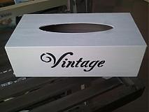 Nádoby - Box na papierové obrúsky - 1650334