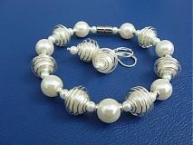 Sady šperkov - Biela v klietke - 1650920