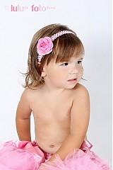 Ozdoby do vlasov - ružová čelenka s kvetinkou - 1658570