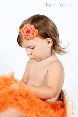Ozdoby do vlasov - oranžová kvetinka - 1658599