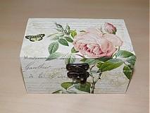 - Čajová krabica Vintage 2 - priečinky - 1659647