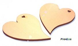 Polotovary - sada 2ks - tvar srdiečka s malým srdiečkovým výrezom - 1668501