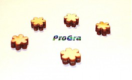 Polotovary - kvietky - sada 20 ks - 1668537