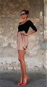 Šaty - Dvojfarebné šaty - 1670124