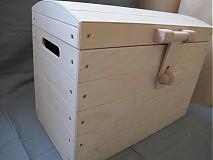 Polotovary - Drevený polotovar- Veľká drevená truhlica  - 1670820