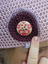 Čiapky - čiapka ružová - 1678970