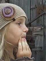 Detské čiapky - bežová malá  - 1679322