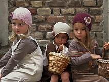 Detské čiapky - bežová malá  - 1679324
