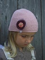 Čiapky - čiapka ružová - 1679357