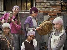 Detské čiapky - staroružová veľká SKLADOM - 1679808